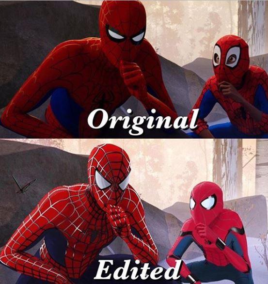 8 meme spiderman konyol © 2019 brilio.net
