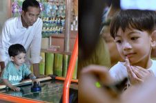 Momen Jan Ethes potong rambut ditemani Jokowi, aksinya bikin gemas
