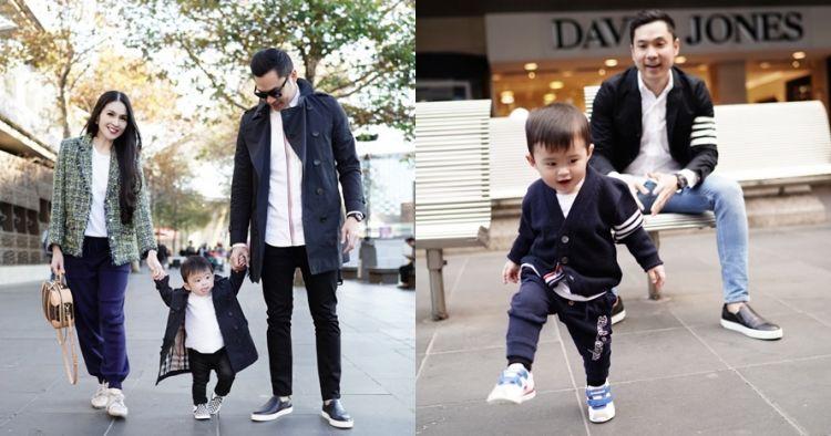 11 Gaya kompak suami Sandra Dewi dan anaknya, stylish abis