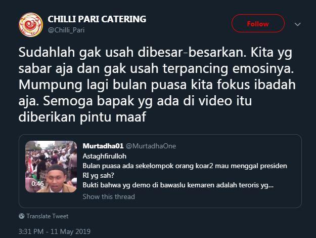 tanggapan bijak gibran ancam jokowi © Twitter/@Chilli_Pari