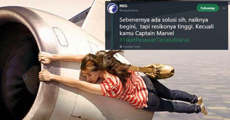 7 Cuitan lucu 'tiket pesawat terlalu mahal', gagal mudik deh