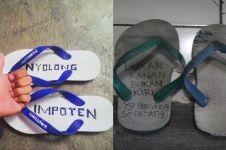 Tulisan di 10 sandal ini bikin nggak hilang saat dipakai tarawih