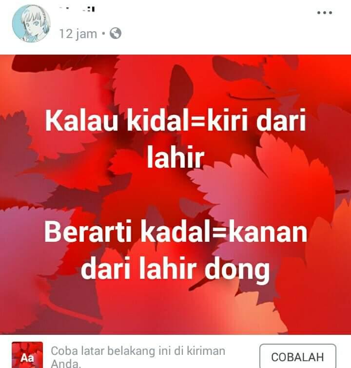 pertanyaan di status facebook bingung jawabnya © berbagai sumber