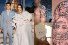 7 Seleb ini bikin tato wajah pasangannya di tubuh, penuh makna