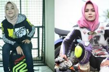 10 Pesona Kintan berkostum balap, hijaber imut garang di atas aspal