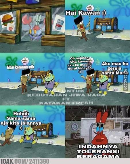 meme spongebob toleransi © 2019 brilio.net