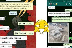 10 Chat lucu disuruh sama emak ini endingnya kocak