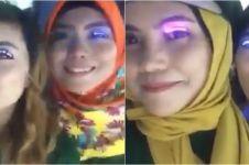 Video viral cewek pakai bulu mata mirip lampu LED, unik abis