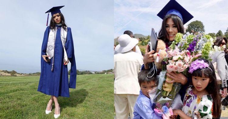 Raih gelar master, ini 10 momen wisuda Adinda Bakrie di California