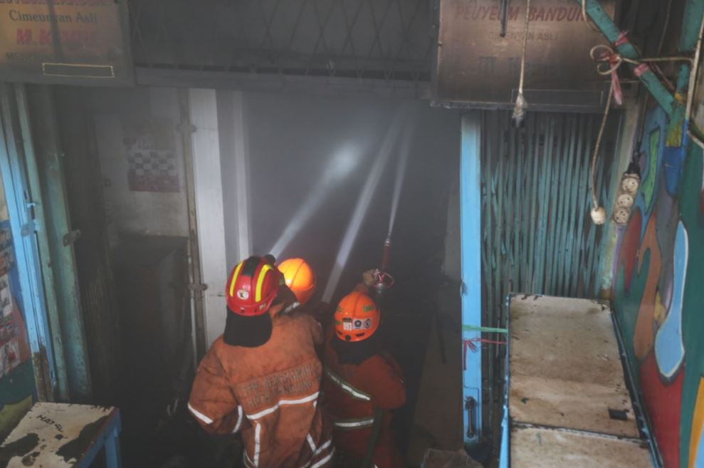 pasar kosambi usai kebakaran © 2019 brilio.net