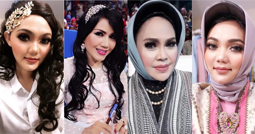 10 Transformasi Rina Nose tirukan pose seleb Indonesia, kocak abis