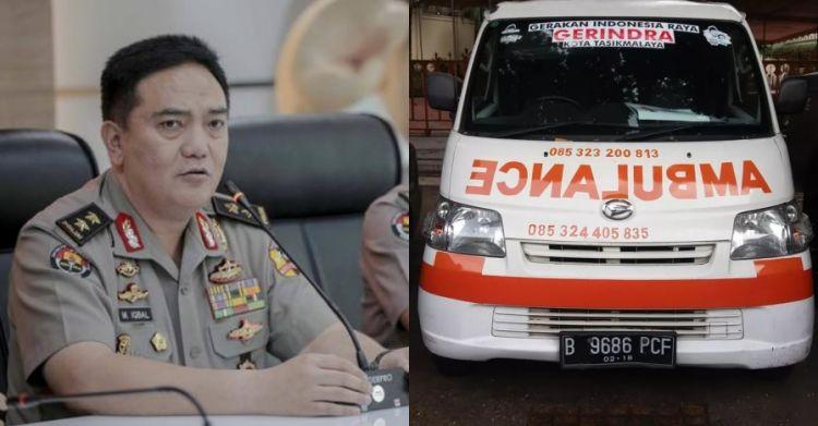 Polisi sita ambulans parpol berisi batu dan uang saat Aksi 22 Mei