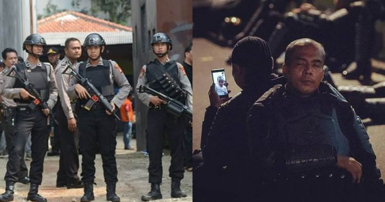 Cara polisi usir stres di sela aksi 22 Mei ini curi perhatian