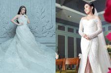 5 Gaya Ayu Ting Ting saat kenakan busana pengantin, makin memesona