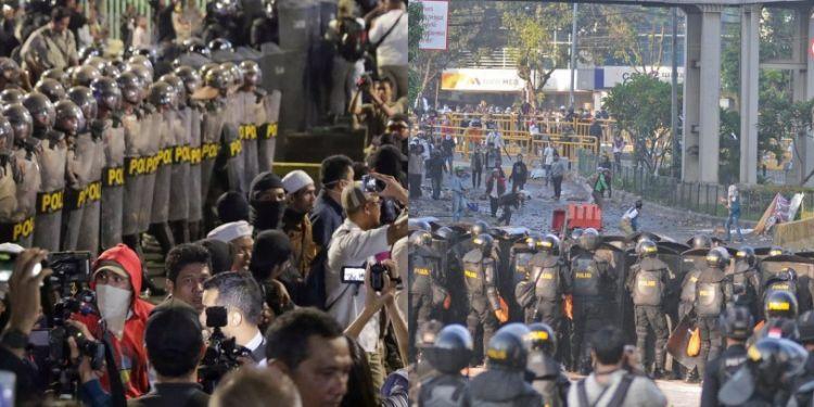 Provokator aksi 22 Mei pakai grup WA ajak serang Presiden Jokowi
