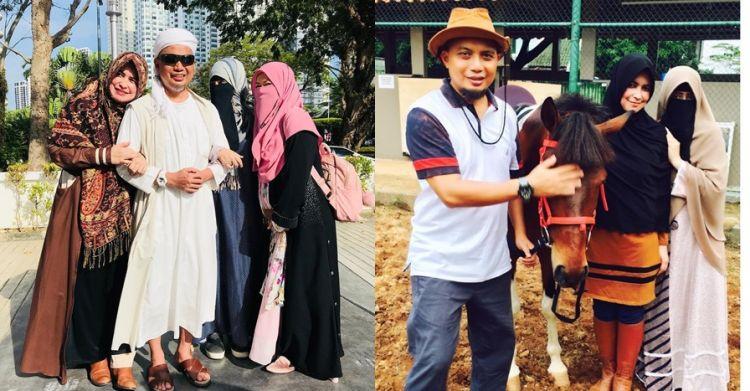 9 Momen kenangan kesetiaan tiga istri mendampingi Ustaz Arifin Ilham