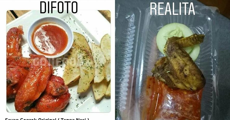 9 Ekspektasi vs realita beli makanan via ojek online, bikin nyesek