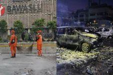 10 Potret sisa kerusuhan aksi 22 Mei, sampah menumpuk