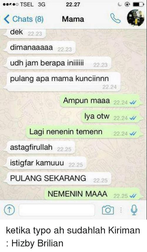chat ke emak typo © 2019 berbagai sumber