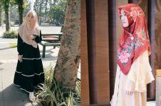 10 Outfit Larissa Chou menantu Arifin Ilham, tampil syar'i