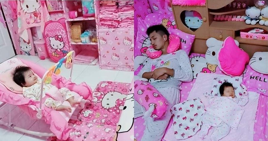 7 Potret kamar pasangan suami-istri tema Hello Kitty, nyentrik abis