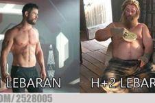 12 Meme lucu sebelum vs sesudah Lebaran ini ngeselin banget