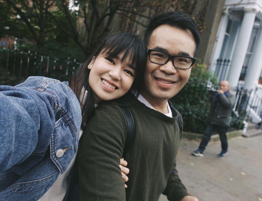 Laura basuki dan suami © 2019 Instagram