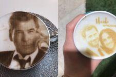 7 Wajah seleb & tokoh dunia dijadikan latte art, mirip banget