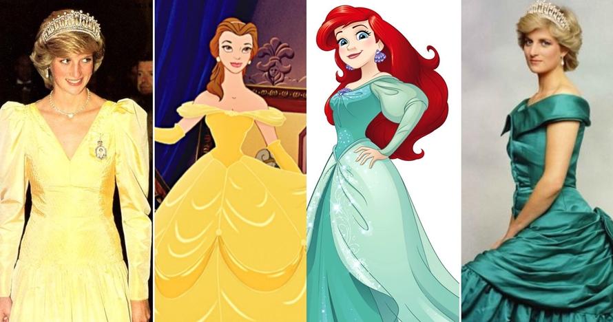 8 Cocoklogi pakaian Lady Diana & Putri Disney, anggun menawan