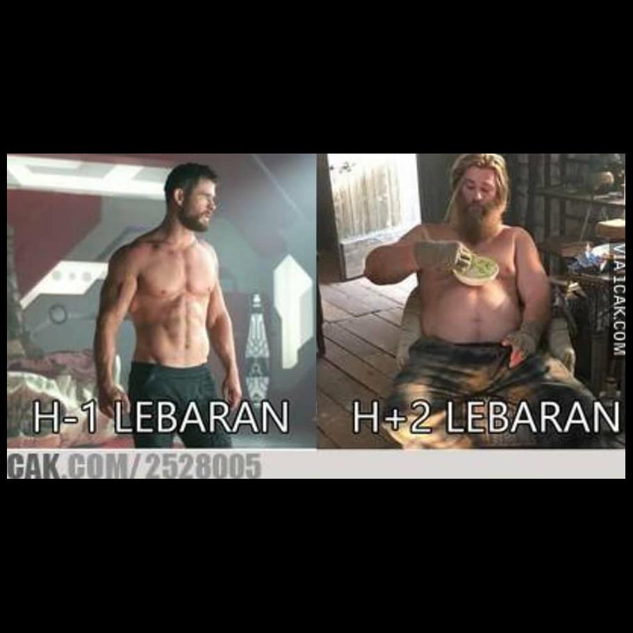 10 Meme lucu Avengers waktu Lebaran ini bikin ngakak