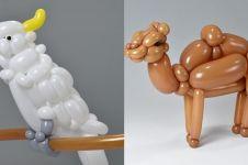 15 Karya patung hewan terbuat dari balon ini bikin takjub