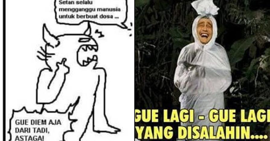 8 Meme lucu nyalahin setan ini bikin ketawa lepas