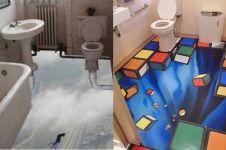 Lantai 10 toilet ini antimainstream, ilusi optiknya bikin heran