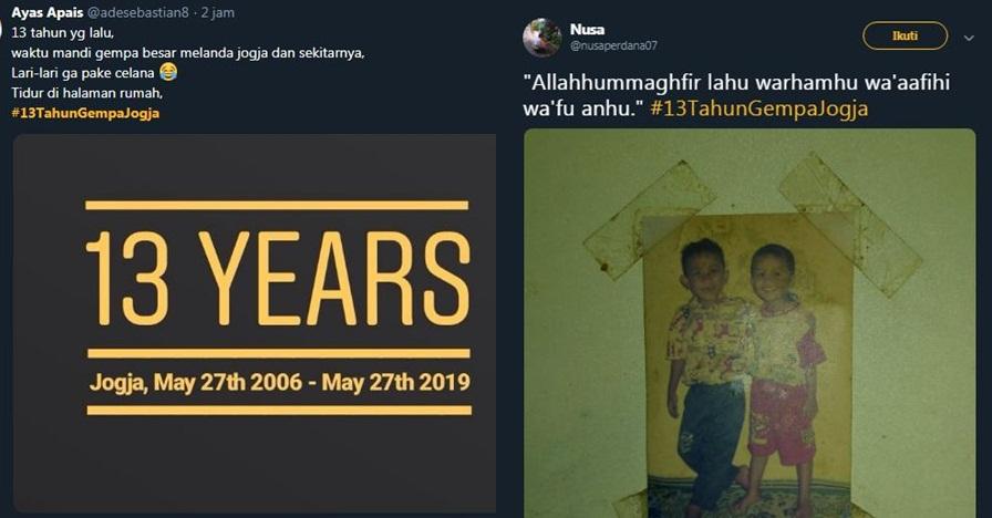 10 Cuitan #13TahunGempaJogja kenang Gempa Jogja tahun 2006