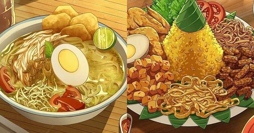 Ilustrasi 8 makanan Indonesia ini keren abis