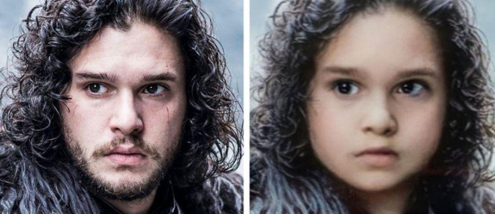 Foto pemain Game of Thrones pakai filter Snapchat © 2019 brilio.net