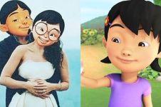 Kisah cinta segitiga Mail, Mei Mei, dan Susanti di Upin Ipin