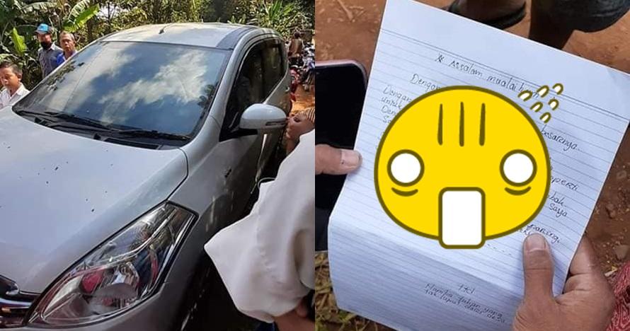 Kembalikan mobil curiannya, maling ini tulis surat tak terduga
