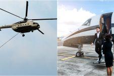 3 Orang Indonesia ini kalau berangkat kerja naik helikopter