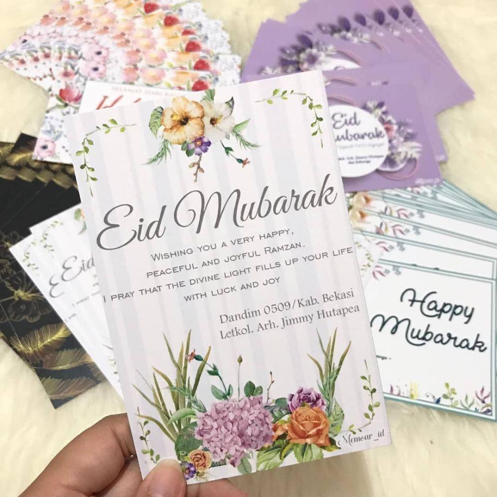 20 Inspirasi kartu ucapan Idul Fitri, simpel dan mudah dibuat