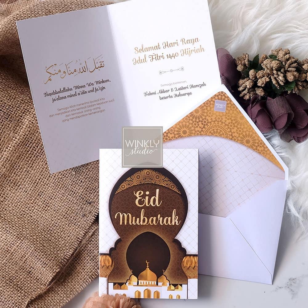 ucapan kartu Idul Fitri instagram