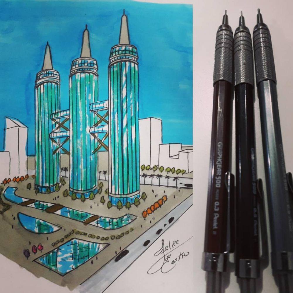 ilustrasi bangunan dari benda  © 2019 brilio.net