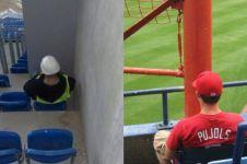 12 Potret kursi tribun stadion ini bikin gagal paham
