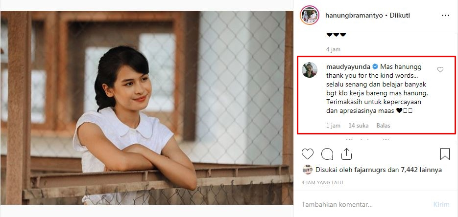 Ini kata Hanung Bramantyo kenapa Maudy Ayunda © 2019 brilio.net