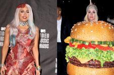 10 Potret seleb Hollywood pakai kostum bertema makanan, unik abis