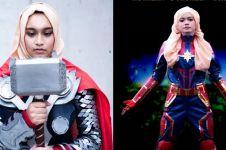 10 Potret cosplayer berhijab tirukan karakter Avengers, kreatif abis