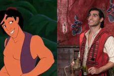 Perbandingan 5 karakter tokoh di film Aladdin dengan versi animasi
