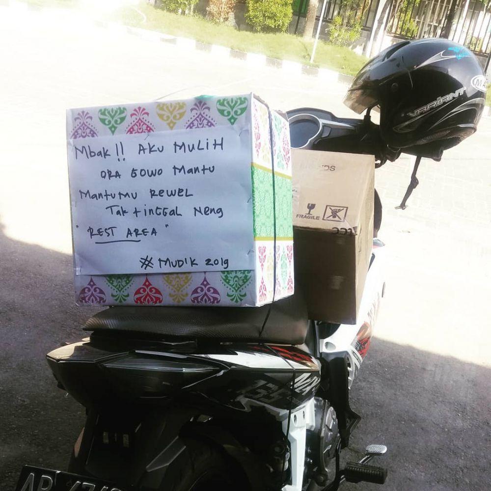 tulisan lucu motor mudik instagram