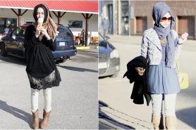9 Inspirasi perpaduan hijab dan mini dress, terlihat manis