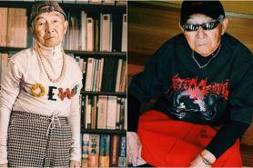 10 Gaya kakek 84 tahun ini swag abis, gaul tidak pandang usia